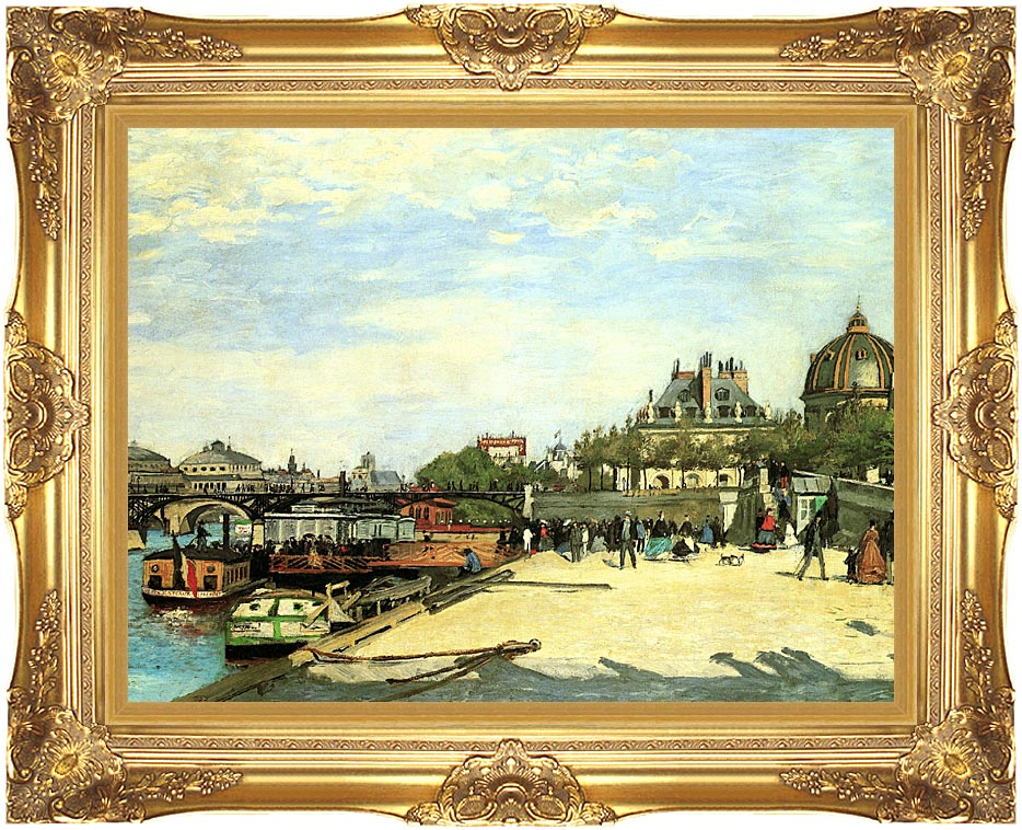 Pierre Auguste Renoir The Pont des Arts with Majestic Gold Frame