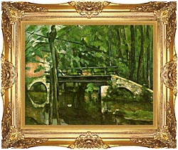 Paul Cezanne The Bridge At Maincy canvas with Majestic Gold frame