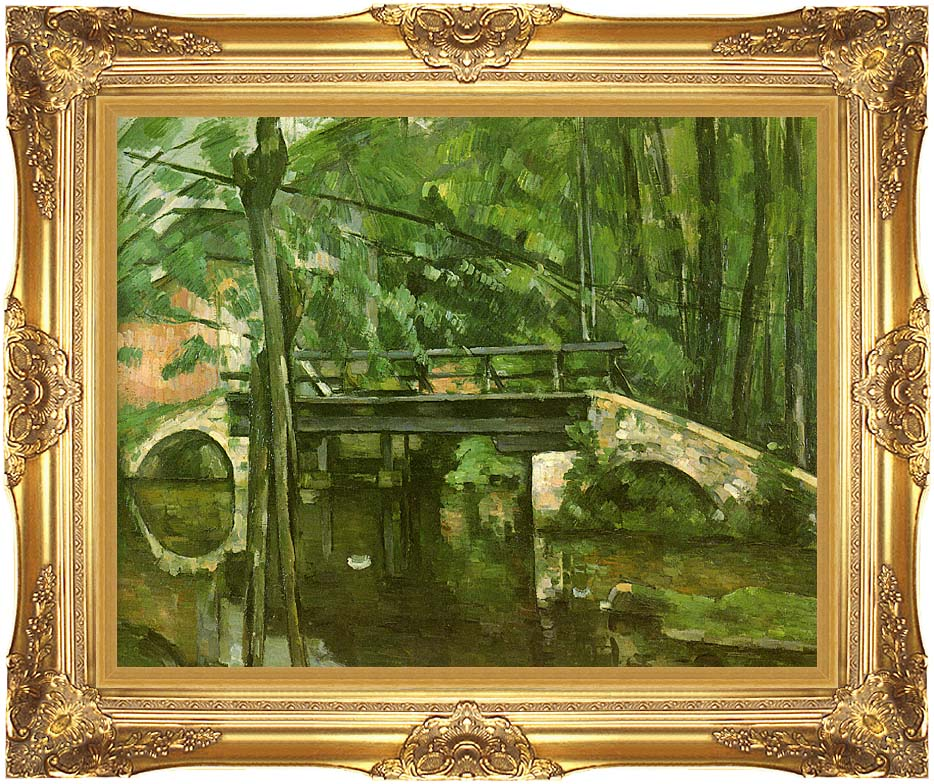 Paul Cezanne The Bridge at Maincy with Majestic Gold Frame