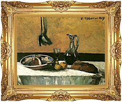 Camille Pissarro Kitchen Still Life canvas with Majestic Gold frame