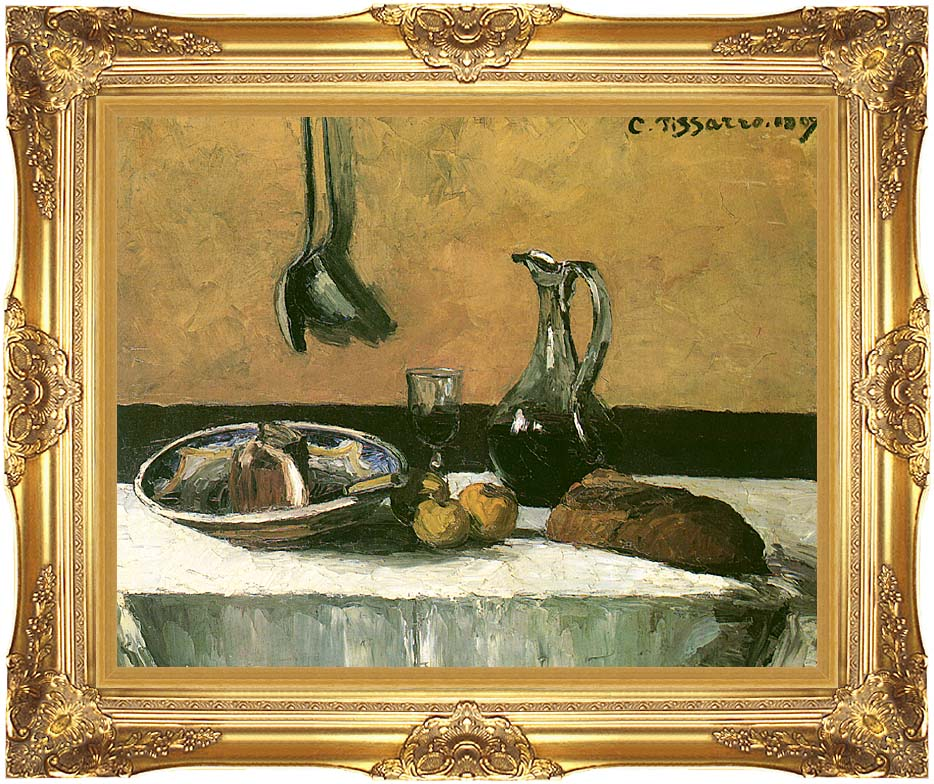 Camille Pissarro Kitchen Still Life with Majestic Gold Frame