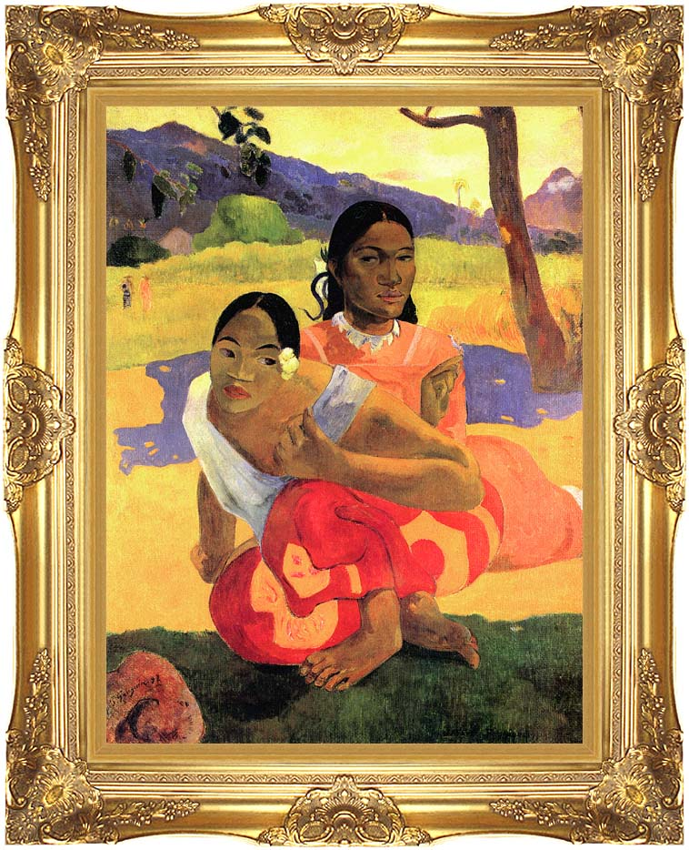 Paul Gauguin When Will You Marry? with Majestic Gold Frame