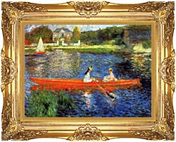 Pierre Auguste Renoir The Skiff canvas with Majestic Gold frame