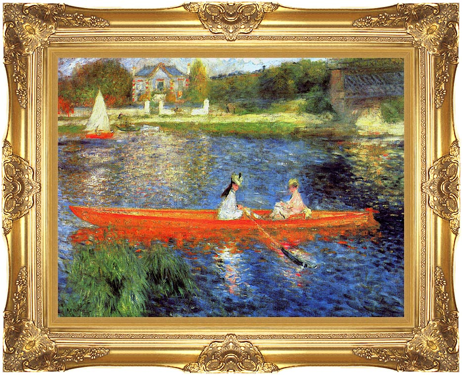 Pierre Auguste Renoir The Skiff with Majestic Gold Frame