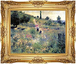 Pierre Auguste Renoir Path Winding Through High Grass canvas with Majestic Gold frame