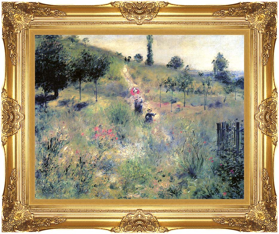 Pierre Auguste Renoir Path Winding Through High Grass with Majestic Gold Frame