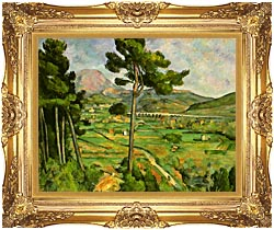 Paul Cezanne Mont Sainte Victoire Seen From Bellevue canvas with Majestic Gold frame