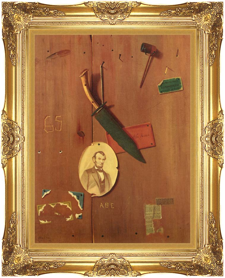John Frederick Peto Reminiscences of 1865 with Majestic Gold Frame