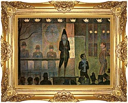 Georges Seurat Invitation To The Sideshow canvas with Majestic Gold frame