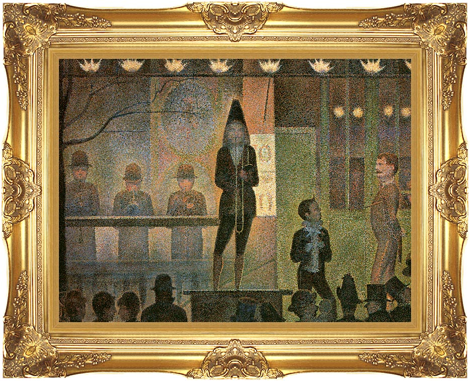 Georges Seurat Invitation to the Sideshow with Majestic Gold Frame