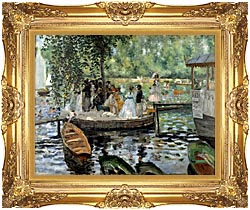 Pierre Auguste Renoir La Grenouillere canvas with Majestic Gold frame