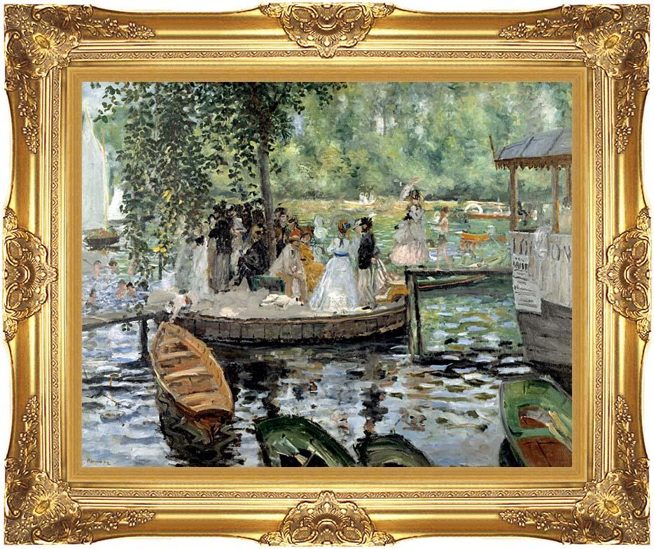 Pierre Auguste Renoir La Grenouillere with Majestic Gold Frame