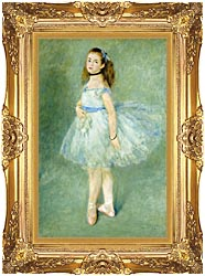Pierre Auguste Renoir The Dancer canvas with Majestic Gold frame
