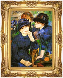 Pierre Auguste Renoir Two Girls canvas with Majestic Gold frame