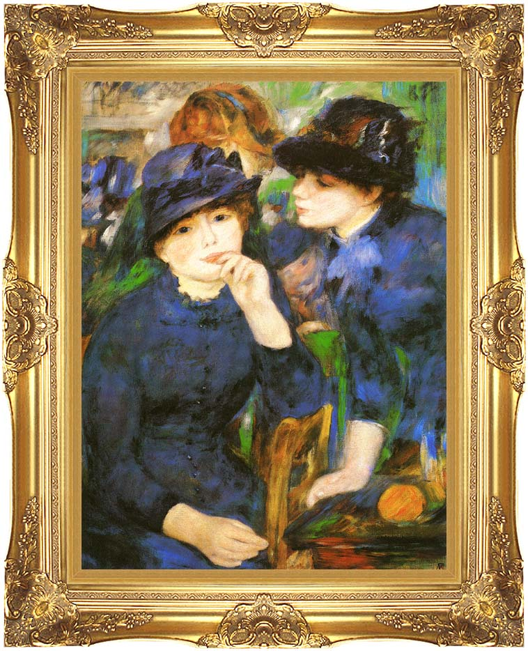 Pierre Auguste Renoir Two Girls with Majestic Gold Frame