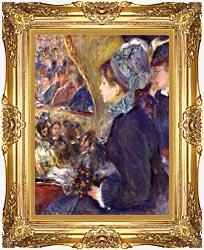 Pierre Auguste Renoir La Premiere Sortie canvas with Majestic Gold frame