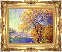 Claude Monet Antibes Seen From La Salis canvas with Majestic Gold frame