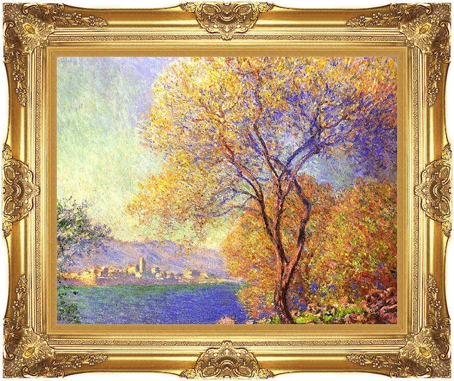 Claude Monet Antibes Seen from La Salis with Majestic Gold Frame