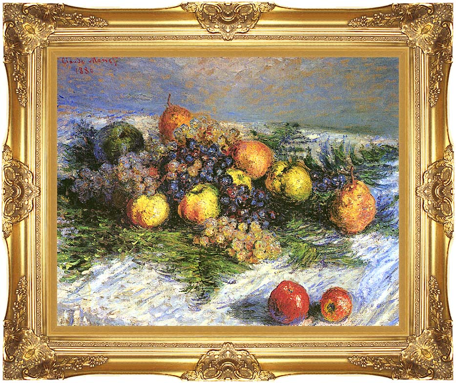 Claude Monet Pears and Grapes with Majestic Gold Frame