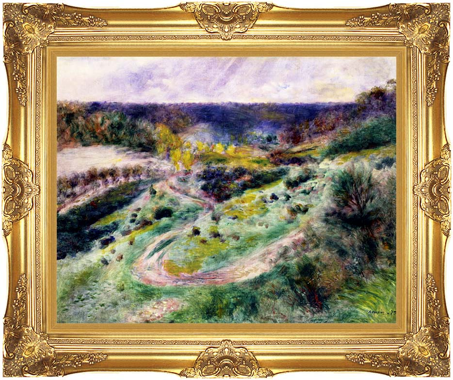 Pierre Auguste Renoir Road at Wargemont with Majestic Gold Frame