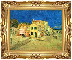 Vincent Van Gogh Vincents House In Arles canvas with Majestic Gold frame