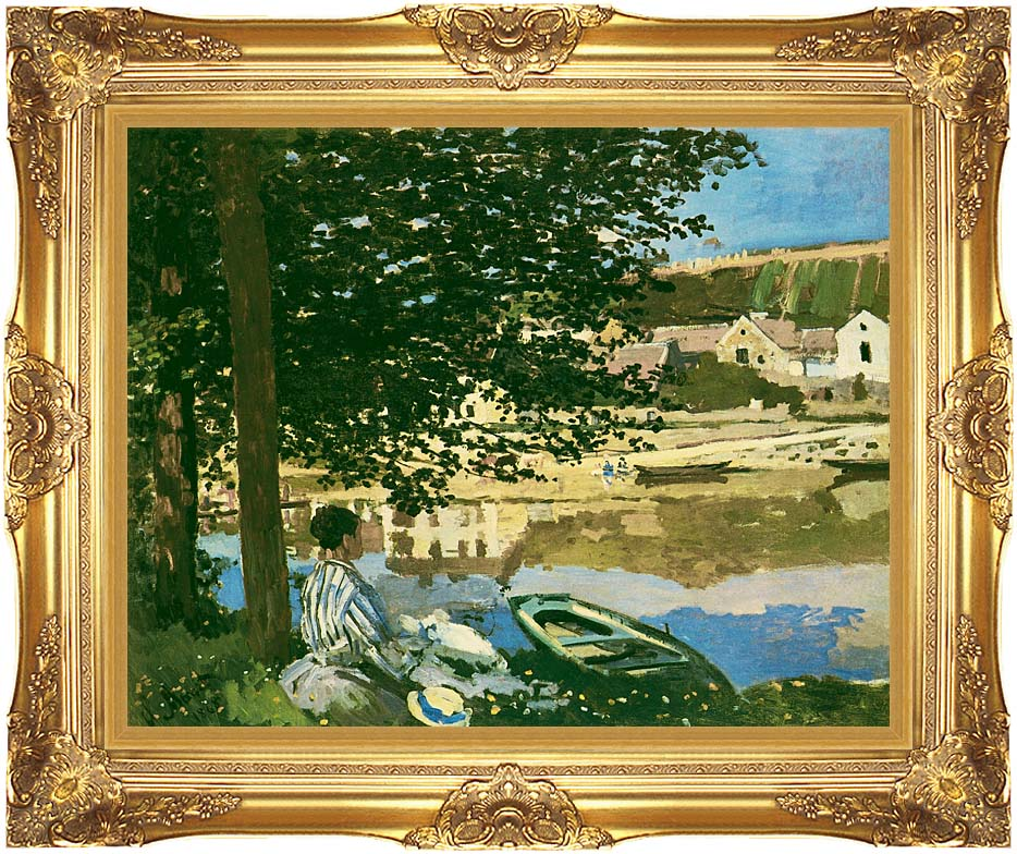 Claude Monet On the Seine at Bennecourt with Majestic Gold Frame