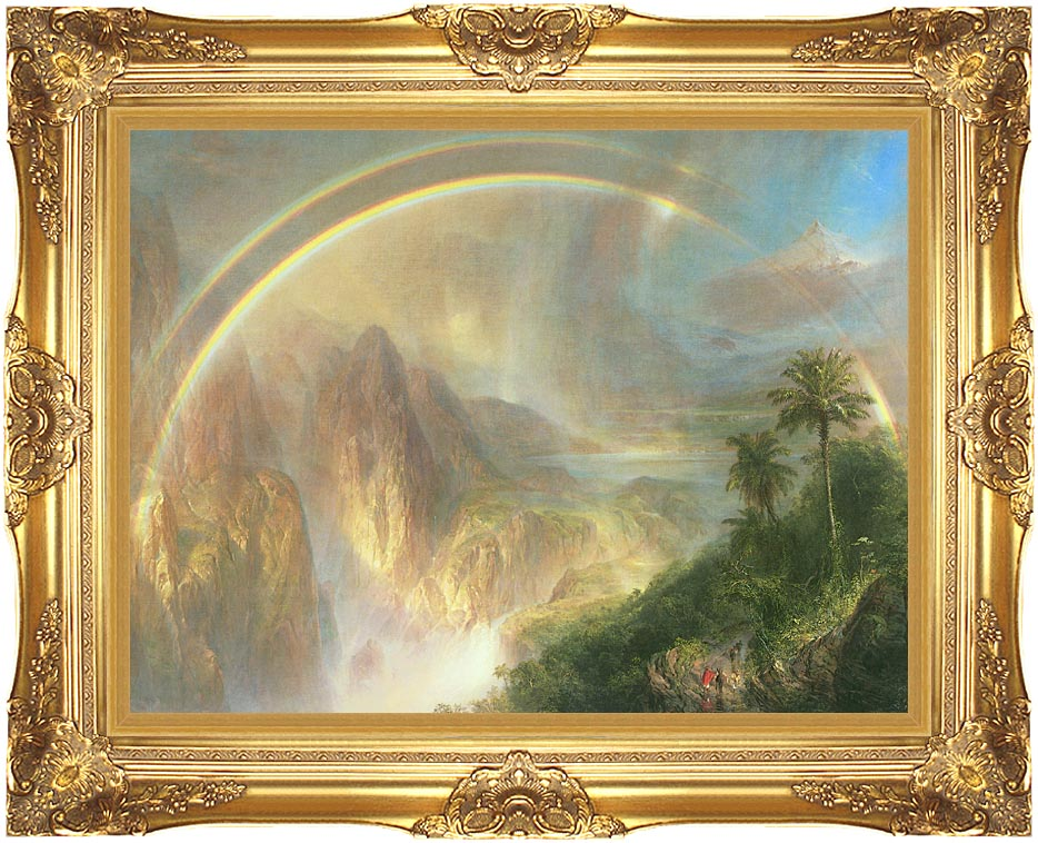 Frederic Edwin Church Rainy Season in the Tropics (detail) with Majestic Gold Frame
