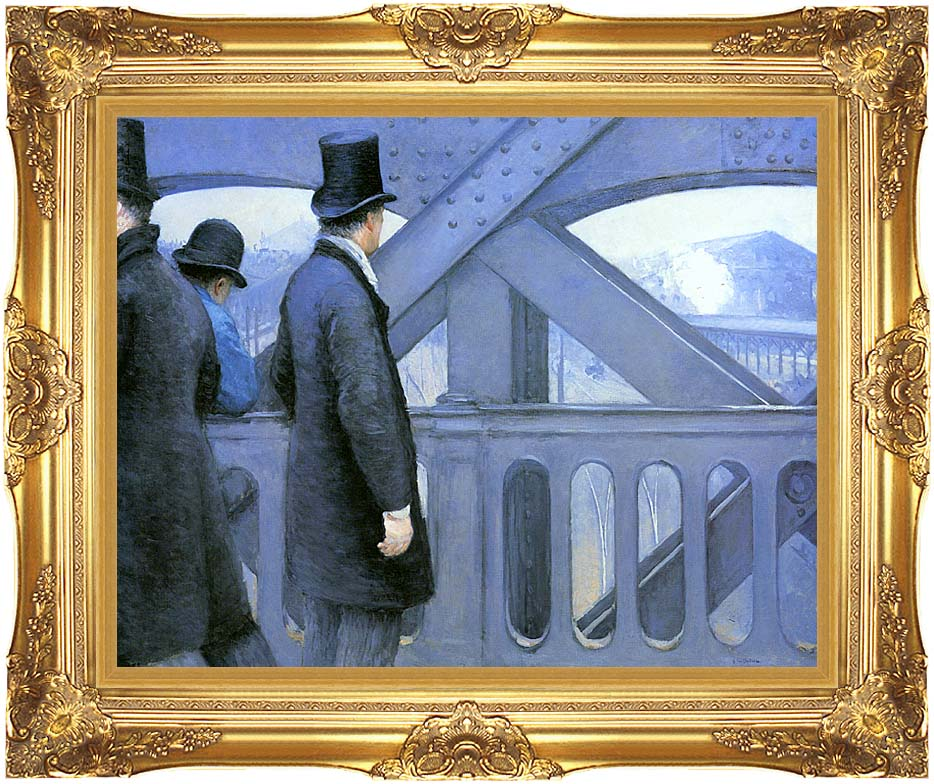Gustave Caillebotte The Europe Bridge with Majestic Gold Frame