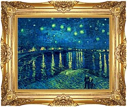 Vincent Van Gogh Starry Night Over The Rhone canvas with Majestic Gold frame