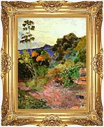 Paul Gauguin Martinique Landscape canvas with Majestic Gold frame