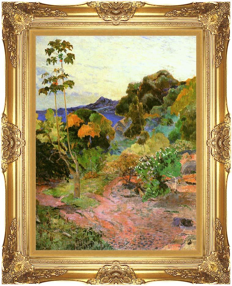 Paul Gauguin Martinique Landscape with Majestic Gold Frame