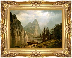 Albert Bierstadt Merced River Yosemite Valley canvas with Majestic Gold frame