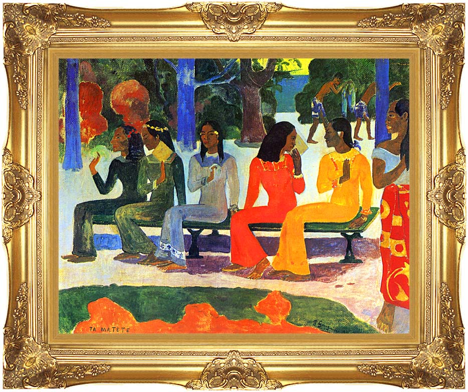 Paul Gauguin We Shall not Go to Market Today with Majestic Gold Frame