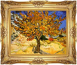 Vincent Van Gogh Mulberry Tree canvas with Majestic Gold frame