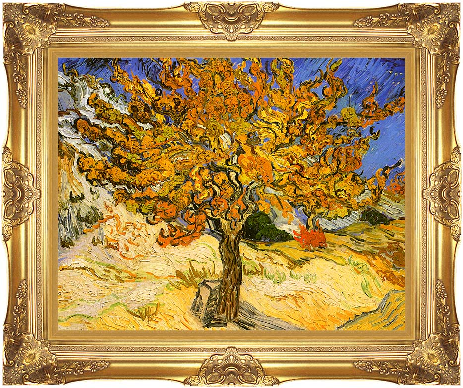 Vincent van Gogh Mulberry Tree with Majestic Gold Frame