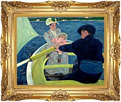 Mary Cassatt The Boating Party canvas with Majestic Gold frame