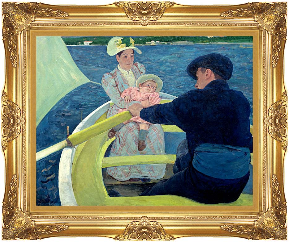 Mary Cassatt The Boating Party with Majestic Gold Frame