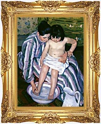 Mary Cassatt The Bath canvas with Majestic Gold frame
