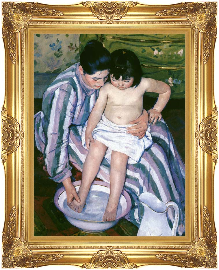 Mary Cassatt The Bath with Majestic Gold Frame