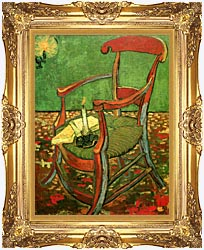 Vincent Van Gogh Paul Gauguins Armchair canvas with Majestic Gold frame