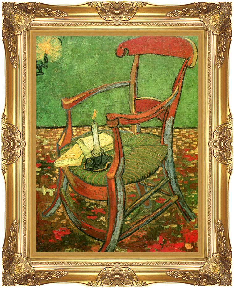 Vincent van Gogh Paul Gauguin's Armchair with Majestic Gold Frame