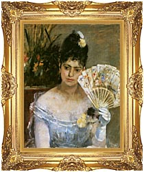 Berthe Morisot At The Ball canvas with Majestic Gold frame