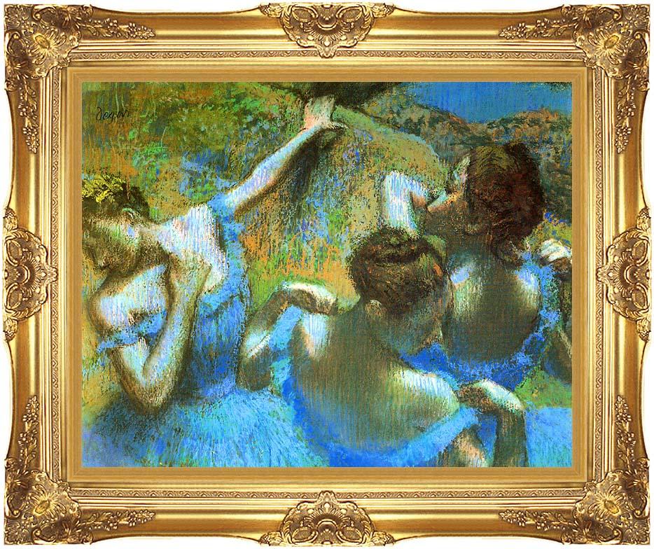Edgar Degas Blue Dancers (detail) with Majestic Gold Frame
