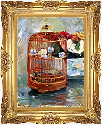 Berthe Morisot The Cage canvas with Majestic Gold frame