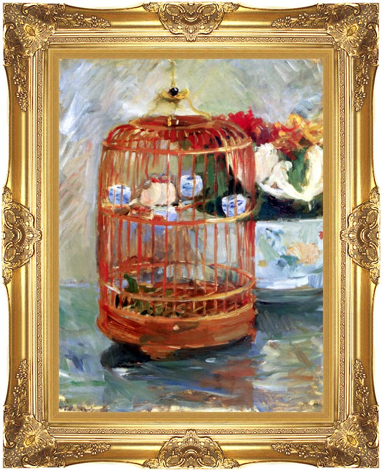 Berthe Morisot The Cage with Majestic Gold Frame