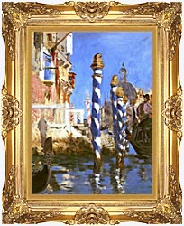 Edouard Manet The Grand Canal   Venice Italy canvas with Majestic Gold frame
