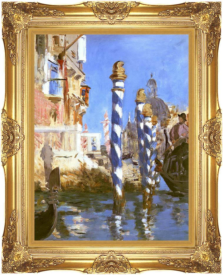 Edouard Manet The Grand Canal - Venice, Italy with Majestic Gold Frame