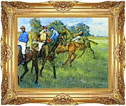 Edgar Degas Race Horses canvas with Majestic Gold frame