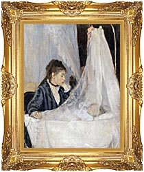 Berthe Morisot The Cradle canvas with Majestic Gold frame