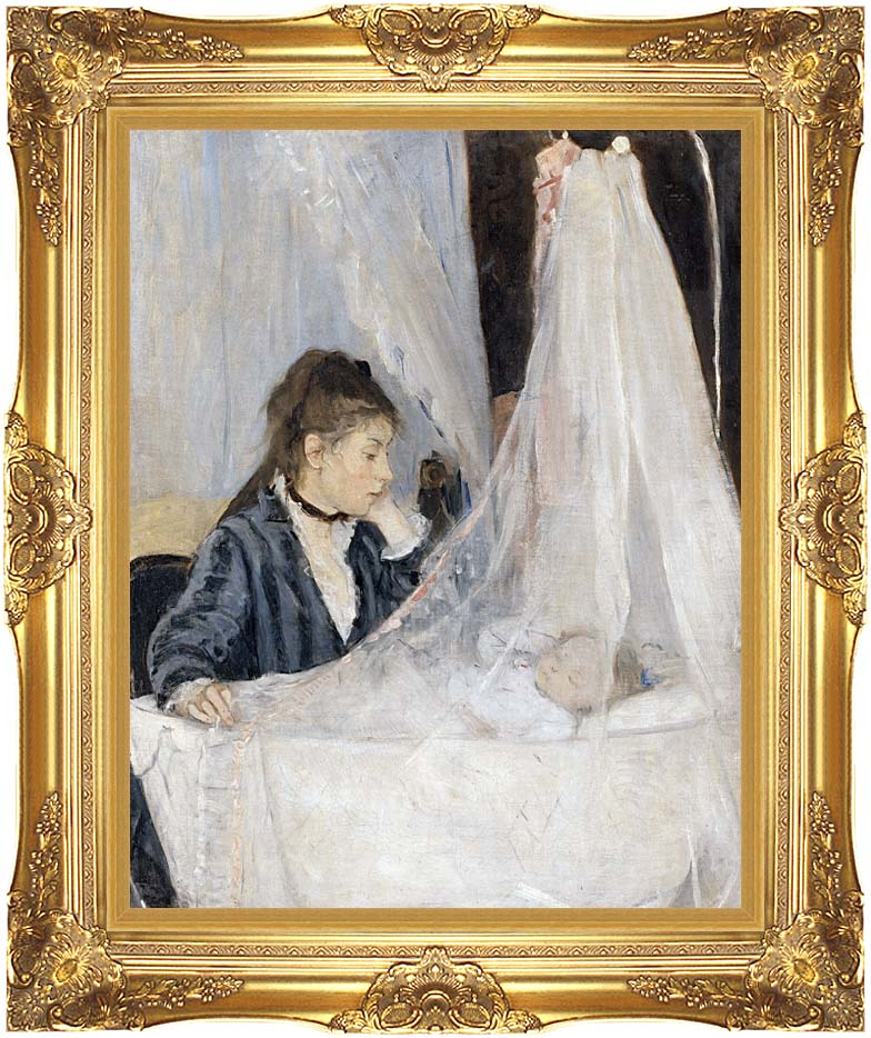 Berthe Morisot The Cradle with Majestic Gold Frame